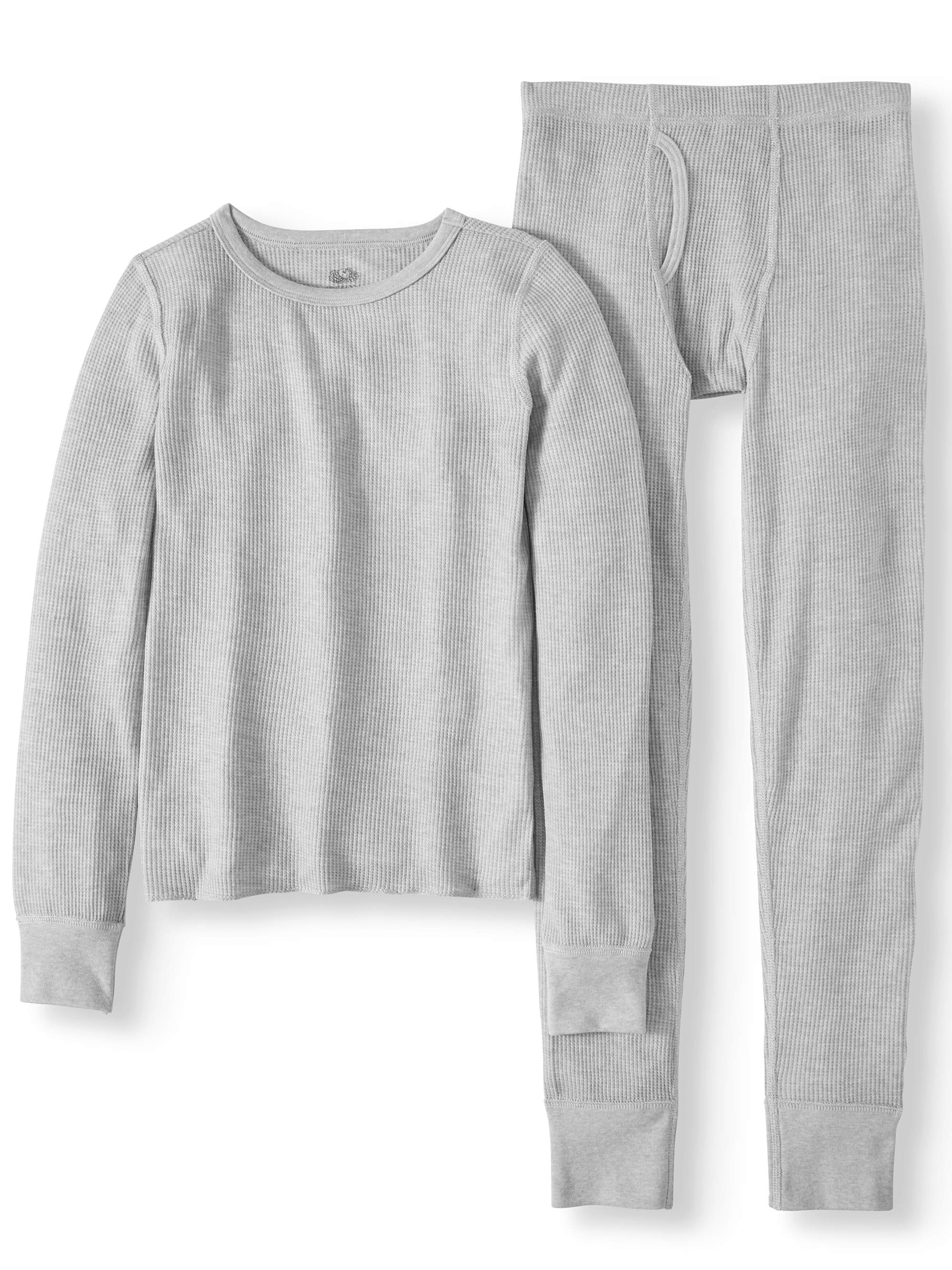 Fruit of the Loom Boys' Soft Waffle Thermal Underwear Set (Little Boy & Big Boy)