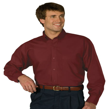 Edwards Mens Big And Tall Poplin Long Sleeve Shirt  Style 1295