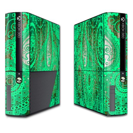 Skin Decal Wrap for Microsoft Xbox 360E (3rd Gen) cover Abstract Black