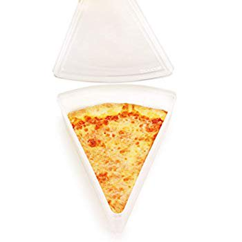 New York Pizza Slice Clear Plastic Containers - Microwaveable and Freezer Friendly, BPA-Free, Easy Open/Close lids, Fit Multiple NY Pizza Slices, Stackable Container w/lids -1 PK Pizza Slice Boxes