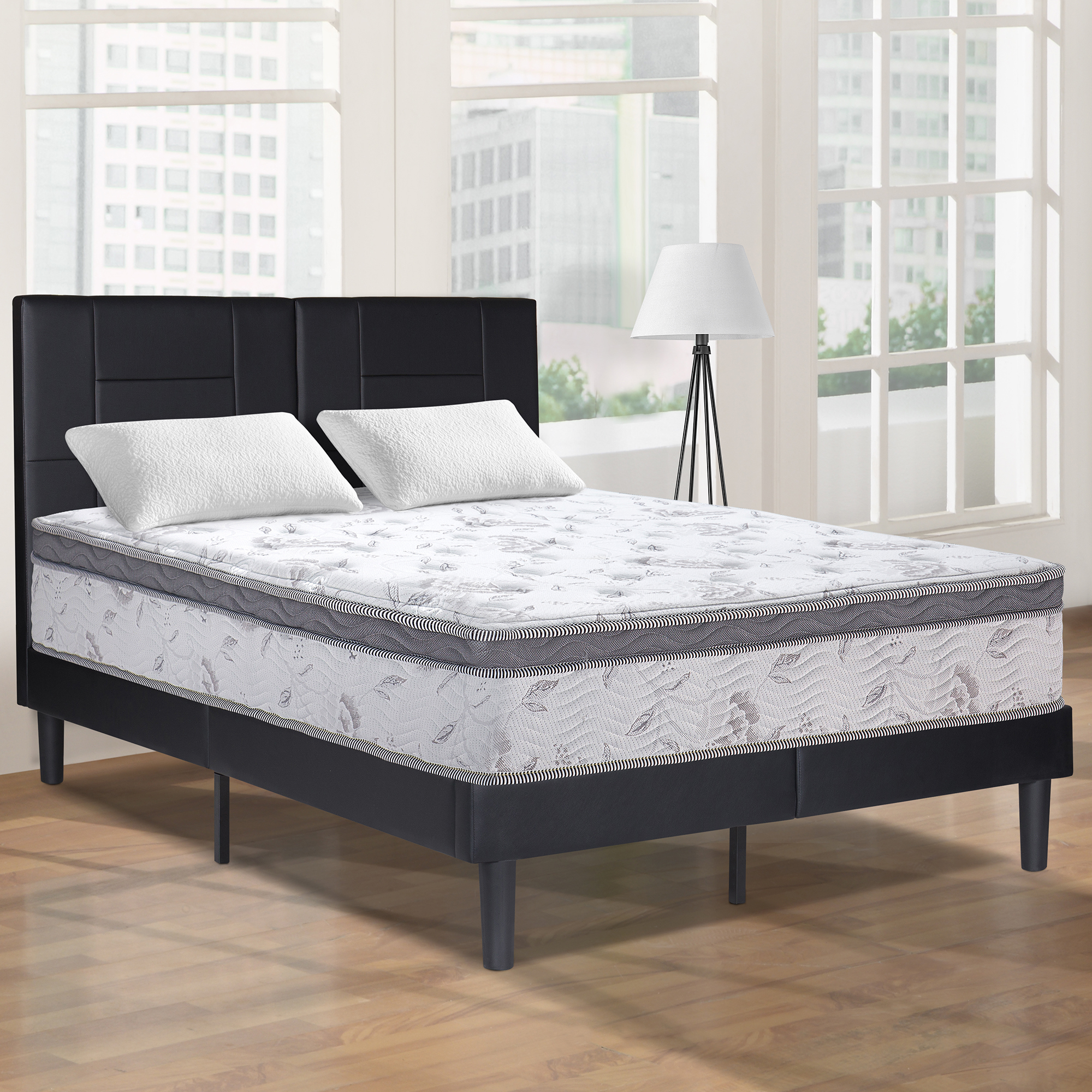 "GranRest 12"" Pegasus Euro Top Pocket Spring Hybrid Mattress, King"