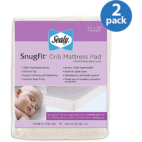Sealy Baby - SnugFit Crib Mattress Pad, 2-Pack