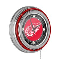 Vintage Detroit Redwings® Neon Clock - 14 inch Diameter