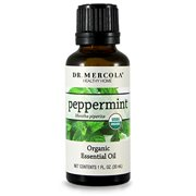 Dr. Mercola Organic Peppermint Essential Oil - Organic Essential Oils For Aromatherapy - Use Orally, Topically Or In Essential Oil Diffuser - Supports Oral Health - 1 Oz Bottle