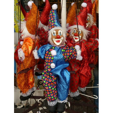 Canvas Print Dolls Dying of The Light Clowns Colorful Toys Stretched Canvas 10 x 14](Clown Dolls)
