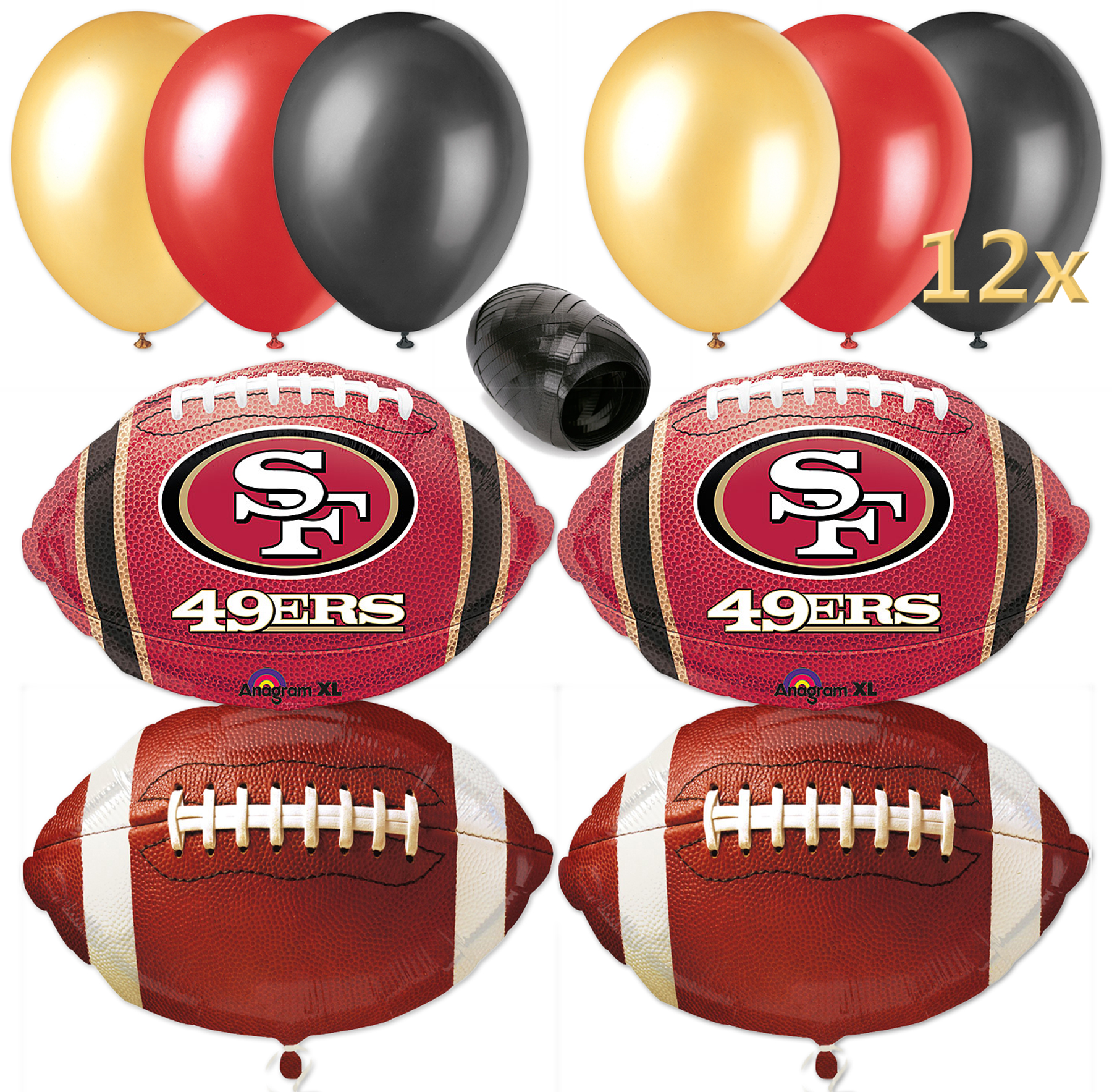 San Francisco 49ers Football Balloon Decorating Party Pack 17pc