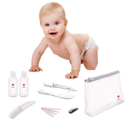 12pc American Red Cross Baby Toiletry Travel Kit Grooming Healthcare TSA 3-1-1