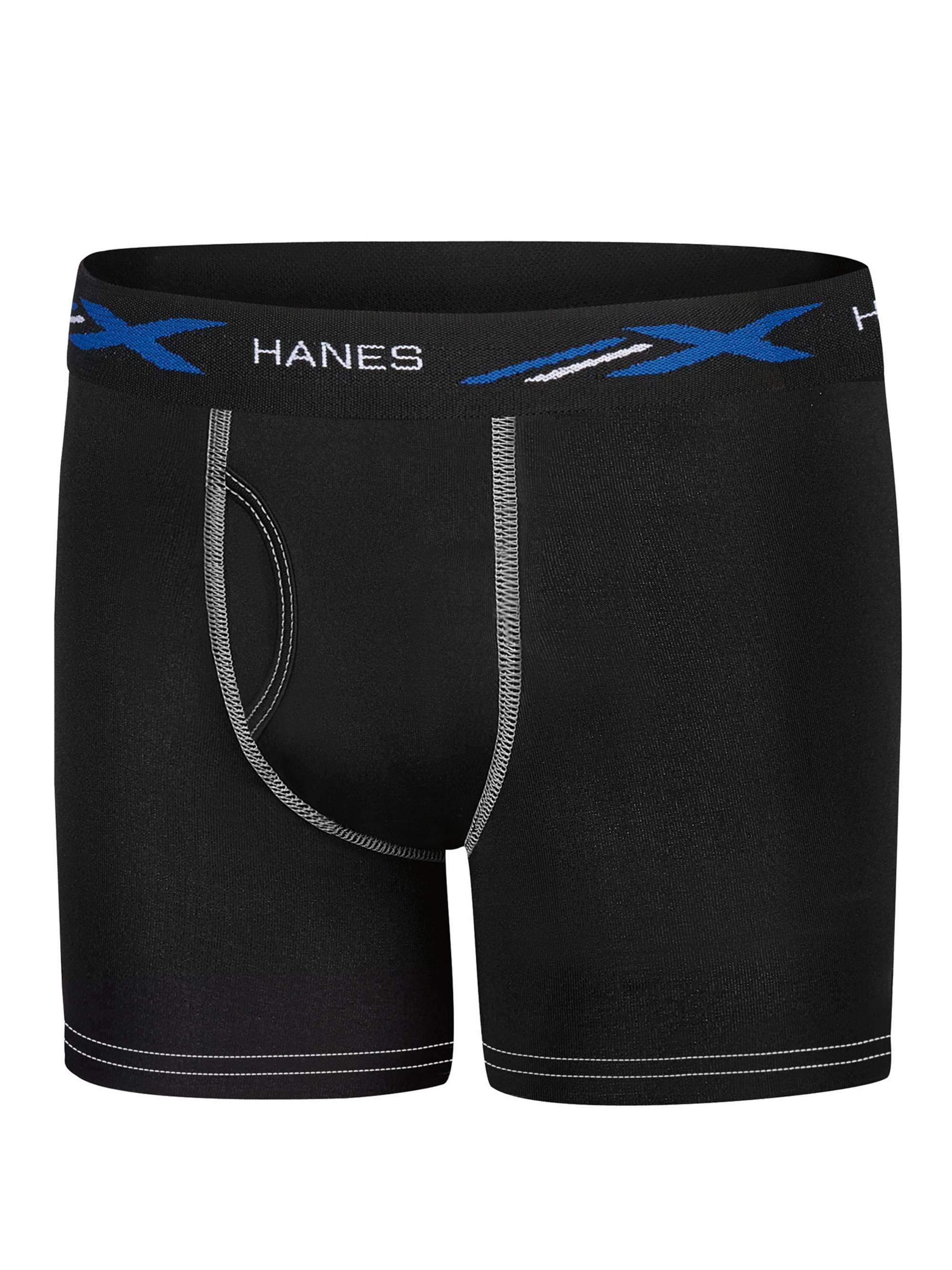 Hanes Boys' X-Temp Active Cool Boxer Brief, 5 Pack
