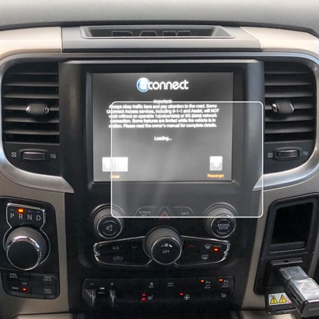 Red Hound Auto 2013-2018 Compatible with Dodge/Ram 1500 2500 3500 Uconnect  Screen Saver 1pc Custom Fit Invisible High Clarity Touch Display Protector
