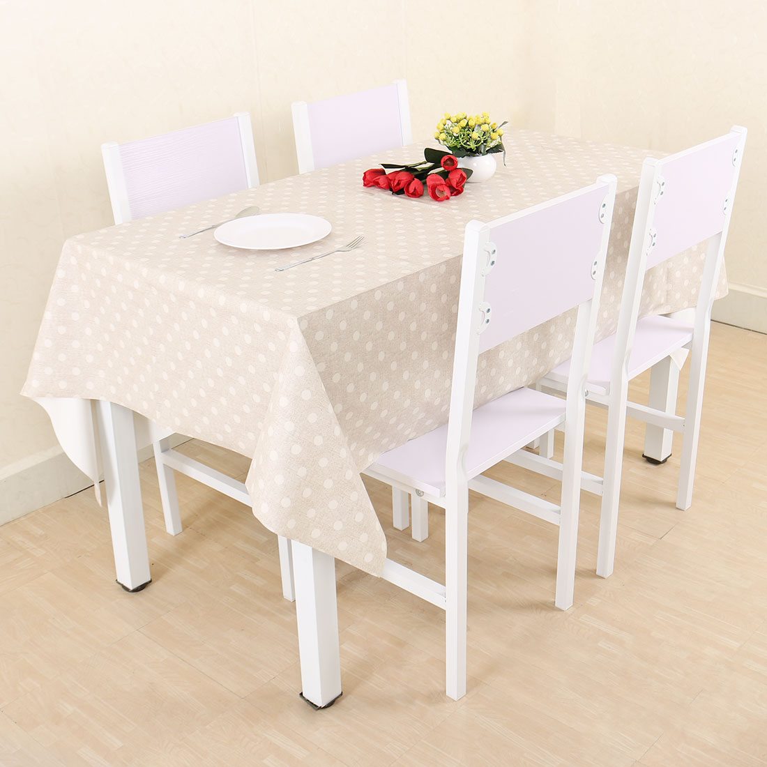 Walmart & Polka Dot Wipe Clean PVC Vinyl Tablecloth Pioneer Woman Table Cover For Rectangular Tables