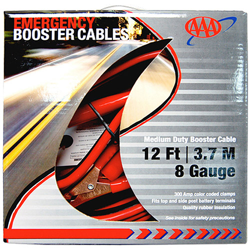 AAA 8-Gauge Booster Cable, 12'