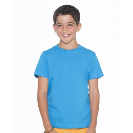 LAT T-Shirts Youth Fine Jersey T-Shirt - Navy Apple Print