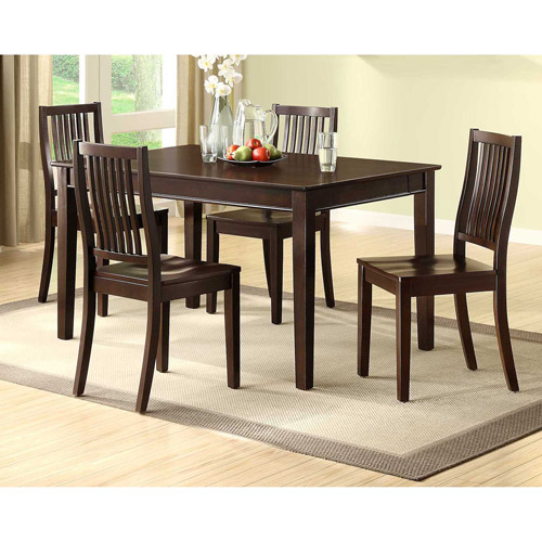Homestead Dining Table With Slide Out Laptop Trays, Espresso