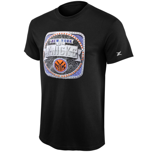 New York Knicks Zipway Ring T-Shirt - Black