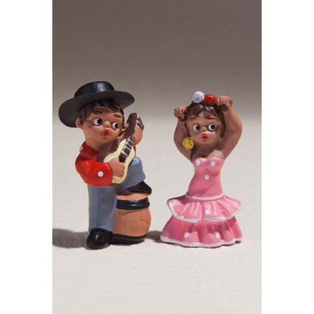 Souvenir miniature figures of Spanish musicians and dancers Madrid Spain Poster Print by Panoramic