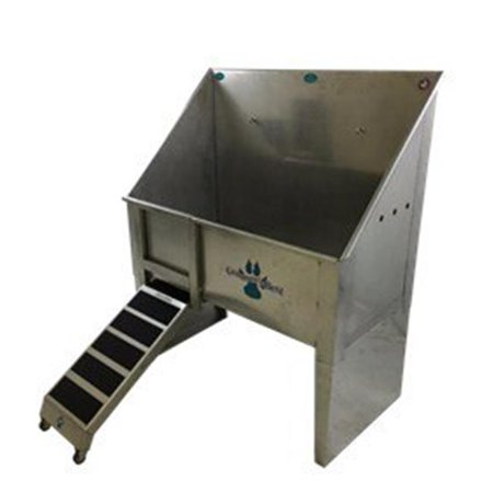Groomers Best GB58WT-C 58 in. Walk-Through Bathing Tub with Center