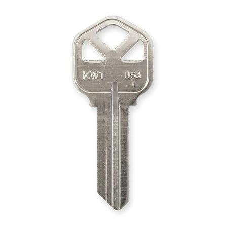 KABA ILCO Key Blank, Nickel, Type 1176,5 Pin, PK50 KW1-NP