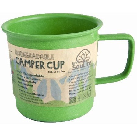 EcoSouLife Bamboo 14 Oz. Camper Cup, - Green Green Bamboo Food