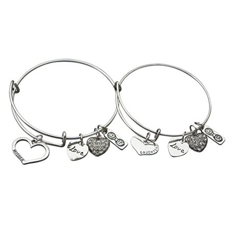 Mother Daughter Bracelets 2pcs Jewelry Set Perfect Gift For Mom