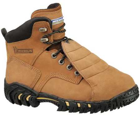 Michelin Size 10 Steel Toe Work Boots, Men's, Brown, M, XPX761 by Michelin