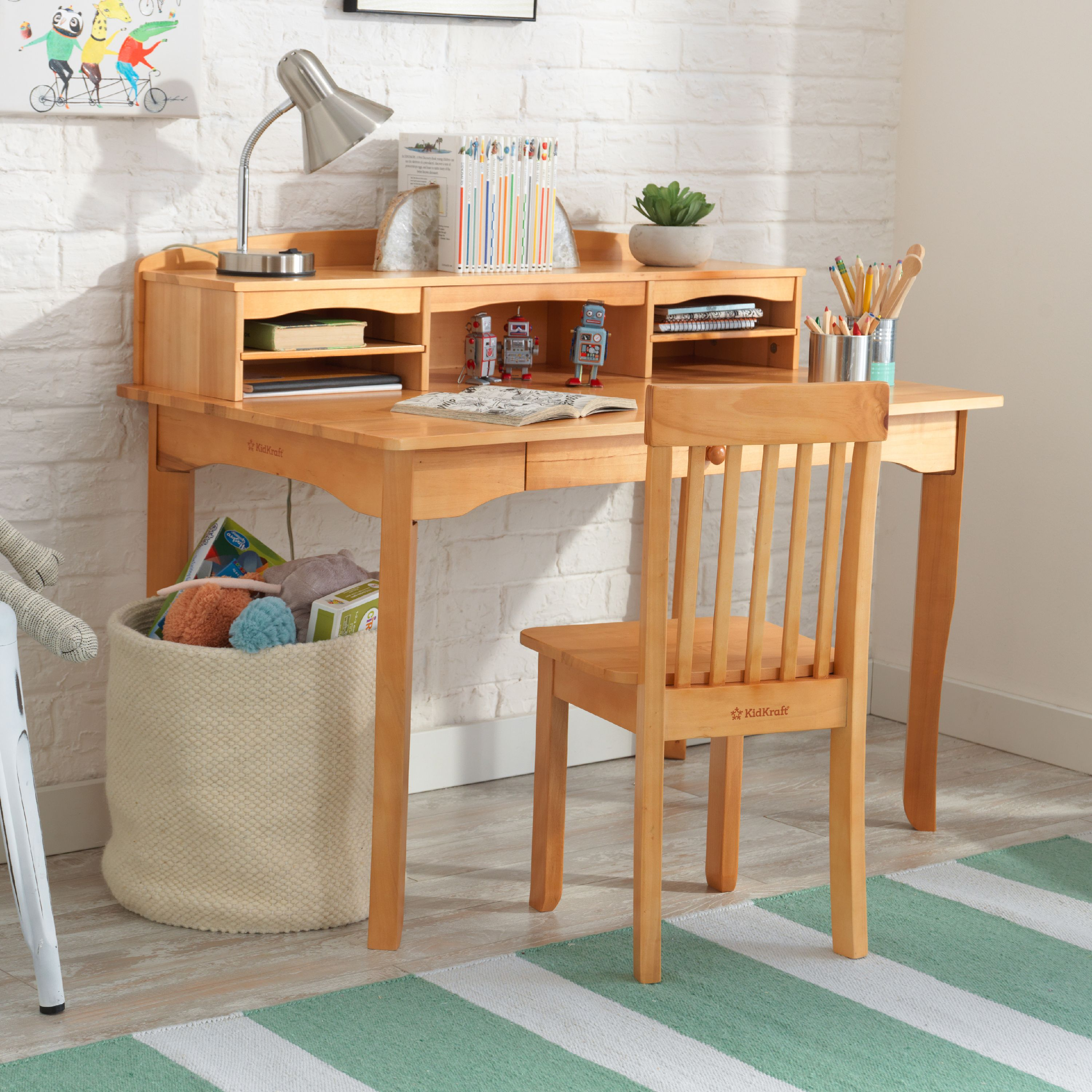 Incredible Kidkraft Avalon Desk With Hutch And Chair Natural Cjindustries Chair Design For Home Cjindustriesco
