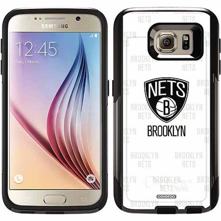 Brooklyn Nets Repeating Design on OtterBox Commuter Series Case for Samsung Galaxy S6 by