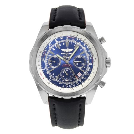 Pre-Owned Breitling Bentley A25362 Blue Dial Chronograph Steel Automatic Mens Watch