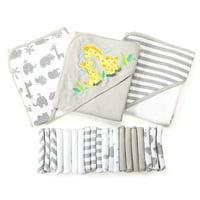 Spasilk 23 Piece Bath Giftset, Grey Giraffe