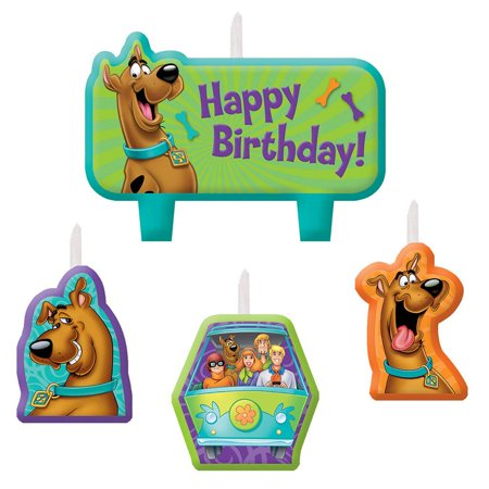 Scooby Doo Birthday Candle Set (3 Pack) - Party Supplies