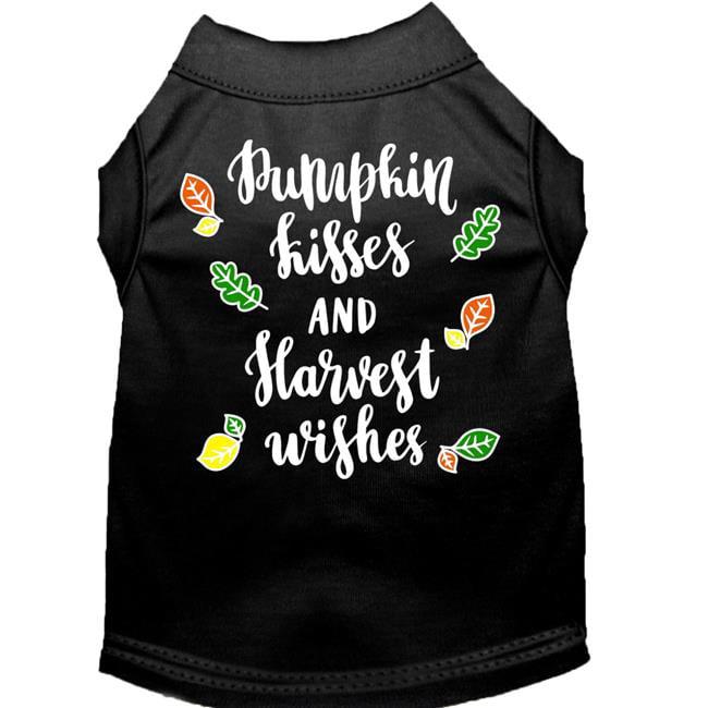 Pumpkin Kisses Screen Print Dog Shirt Black Xs (8) - image 1 of 1