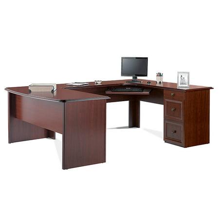 Realspace Broadstreet Contoured U-Shaped Desk With 92
