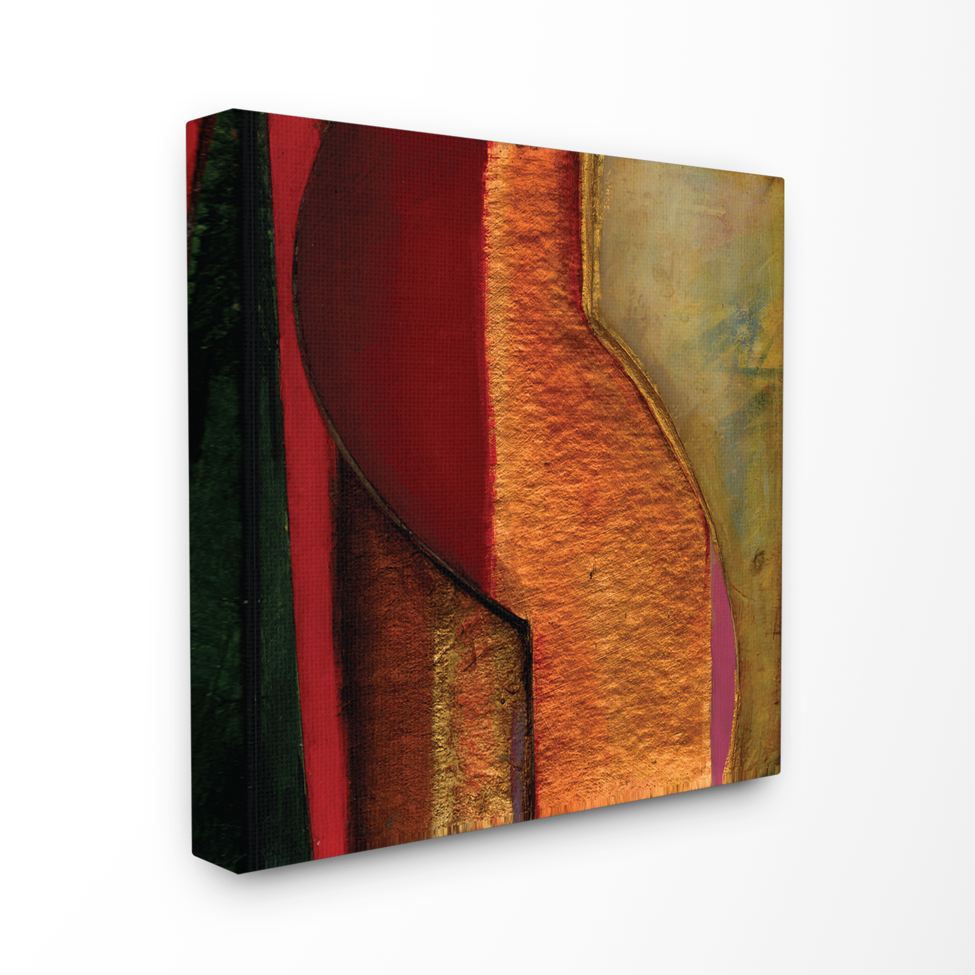 The Stupell Home Decor Collection Modern Zig Zag Russet Oversized Stretched Canvas Wall Art