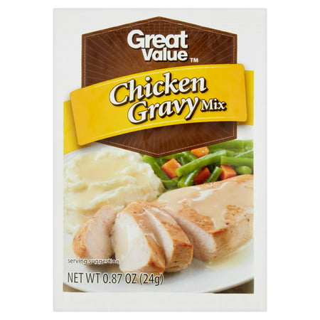 (4 Pack) Great Value Chicken Gravy Mix, 0.87 oz