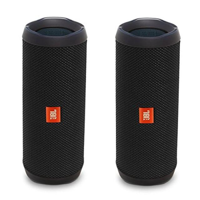 JBL FLIP 4 Black Portable Bluetooth Speaker (Pair) by JBL