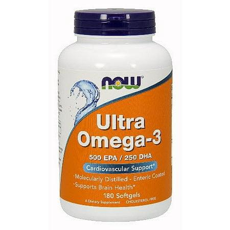 NOW Foods Ultra oméga-3, 500 EPA / DHA 250, 180 Ct
