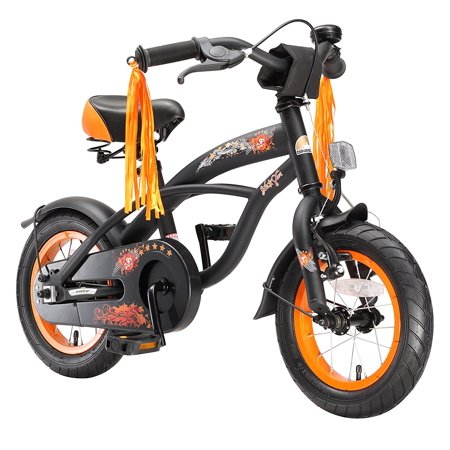 BIKESTAR Original Premium Safety Sport Kids Bike with sidestand and accessories for age 3 year old children | 12 Inch Cruiser Edition for girls/boys | Diabolic