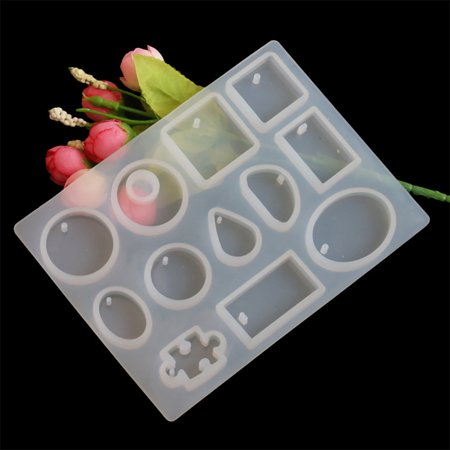 Outtop Silicone Mold Necklace Pendant Resin Jewelry Making Mould DIY Hand Craft