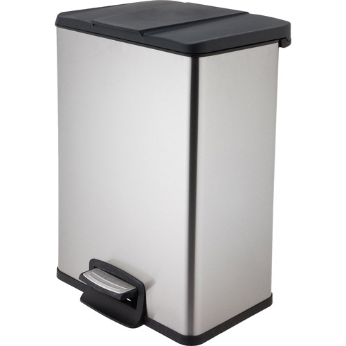 better homes and gardens 40-liter rectangle front step trash can