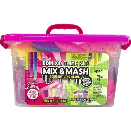 Compound Kings Mix & Mash Deluxe Slime Kit Caddy with Storage and 2lbs/32 ozs of Slime & Mix-Ins