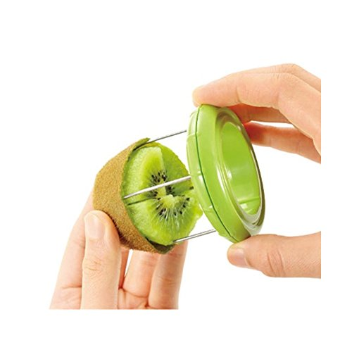 KIWI Peeler Slicer Tool Fast Peel Any Fruit Or Soft Vegetable With Ease Pitter Scooper Core Kiwi Fruit Scoop Green