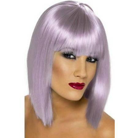 Smiffy's Lilac Short Glam Wig 24012 - Headband Wigs Short