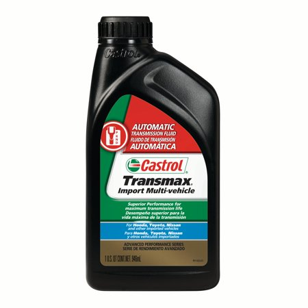- Castrol Transmax Import Multi-Vehicle Automatic Transmission Fluid, 1Qt