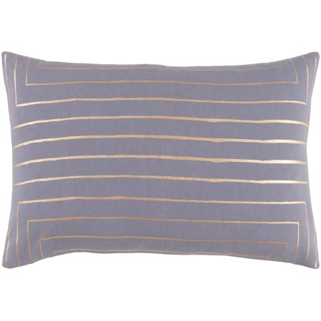 Surya Crescent Medium Gray and Gold 13 x 19 In Throw