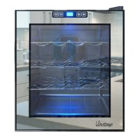 16-Bottle Mirrored Thermoelectric Wine Cooler