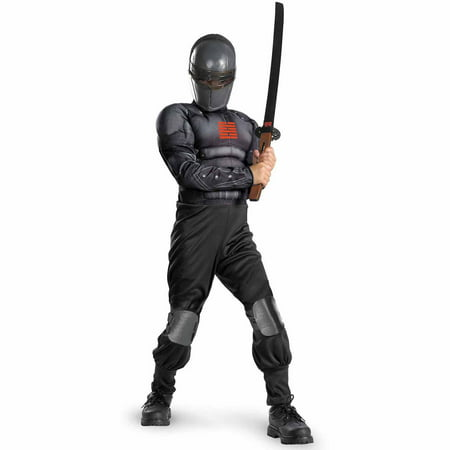 G.I. Joe Retaliation Snake Eyes Light-Up Deluxe Muscle Chest Child Halloween Costume - Halloween Gi Joe Costumes