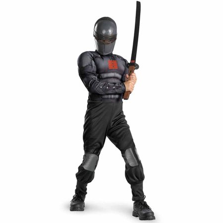 G.I. Joe Retaliation Snake Eyes Light-Up Deluxe Muscle Chest Child Halloween Costume - Halloween Motion Sensor Eyes