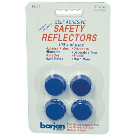Round Self Adhesive - Multi-Purpose Mini Blue Round Self Adhesive Safety Reflectors - 4 Per Card
