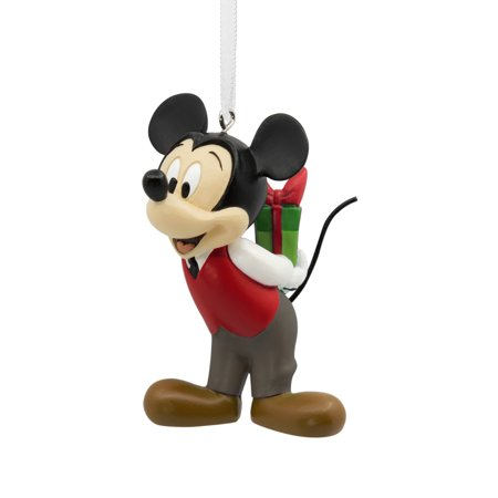 Hallmark Disney Mickey Mouse Holding Gift Christmas Ornament