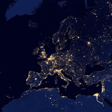 Canvas Print Cities Europe Lights Satellite Map Night Space Stretched on world map of europe, road map of europe, aerial view of europe, wire map of europe, wales map of europe, satellite wallpaper, mexico of europe, topographic map of europe, full map of europe, germany of europe, blank map of europe, asia of europe, home map of europe, relief map of europe, climate map of europe, military map of europe, canada of europe, winds of europe, google maps europe, physical map of europe,