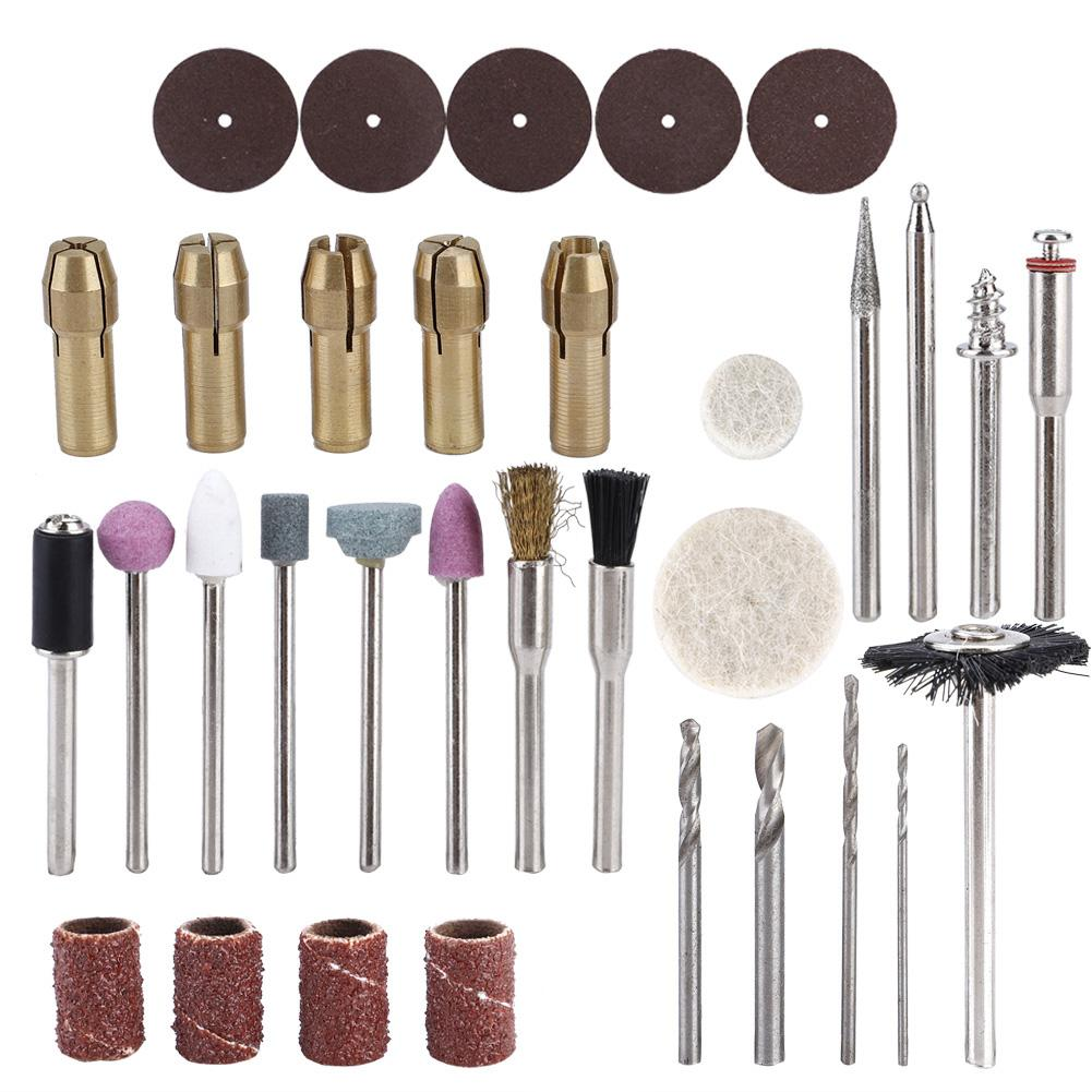 34Pcs//Set Small Electric Rotary Tool Accessory Abrasive Tools for Grinding and Polishing Rotary Tool Kit